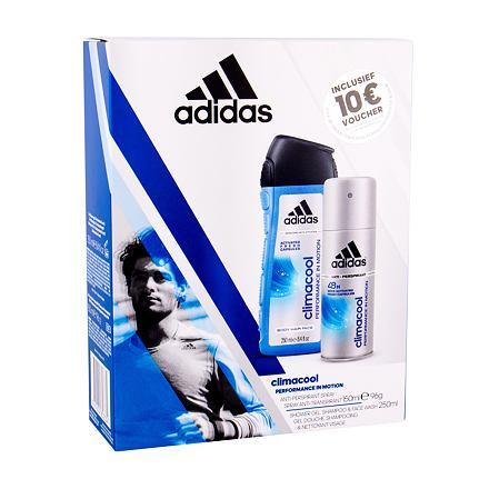 Adidas Climacool 48H sada Anti-perspirant 150 ml + sprchový gel 250 ml pro muže