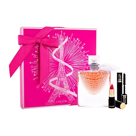 Lancôme La Vie Est Belle L´Eclat sada parfémovaná voda 50 ml + rtěnka L´Absolu Rouge Matte 378