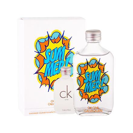 Calvin Klein CK One Summer 2019 sada toaletní voda 100 ml + toaletní voda CK One 15 ml unisex