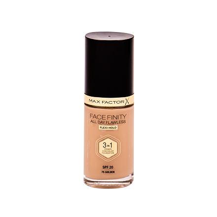 Max Factor Facefinity 3 in 1 tekutý make-up s uv ochranou SPF20 30 ml odstín 75 Golden pro ženy