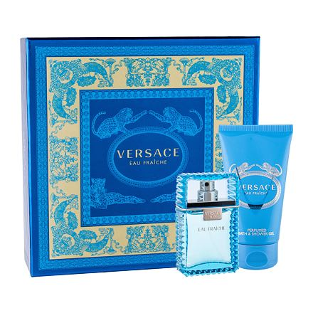 Versace Man Eau Fraiche sada toaletní voda 30 ml + sprchový gel 50 ml pro muže
