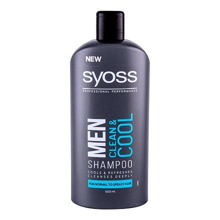 Syoss Professional Performance Men Clean & Cool osvěžující šampon 500 ml pro muže