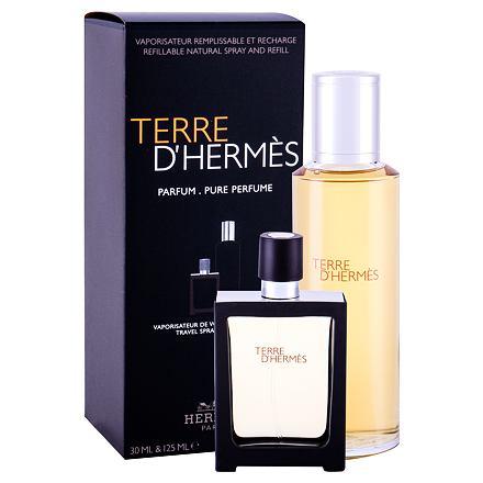 Hermes Terre d´Hermès sada parfém náplň 125 ml + parfém naplnitelný flakón 30 ml pro muže