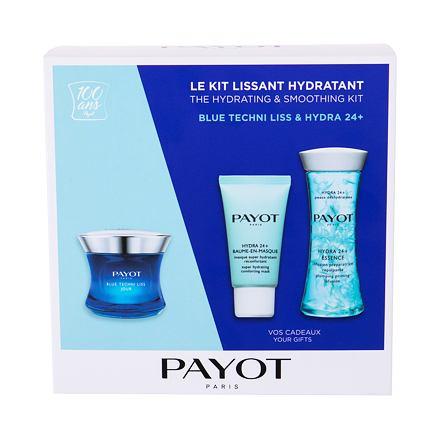 PAYOT Blue Techni Liss Jour sada denní pleťová péče 50 ml + pleťová maska Hydra 24+ 15 ml + podkladová emulze Hydra 24+ 125 ml pro ženy
