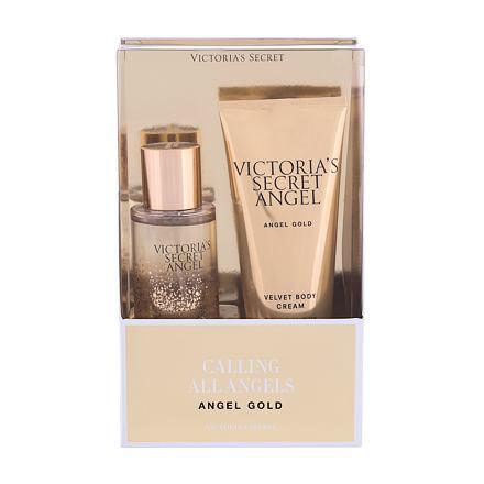 Victoria´s Secret Angel Gold sada tělový sprej 75 ml + tělový krém 100 ml pro ženy