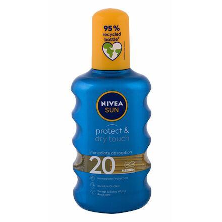 Nivea Sun Protect & Dry Touch Invisible Spray SPF20 neviditelný sprej na opalování 200 ml