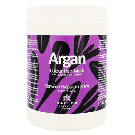 Kallos Cosmetics Argan maska pro barvené vlasy 1000 ml pro ženy