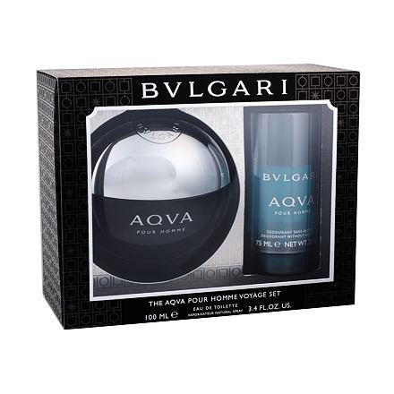 Bvlgari Aqva Pour Homme sada toaletní voda 100 ml + deostick 75 ml pro muže