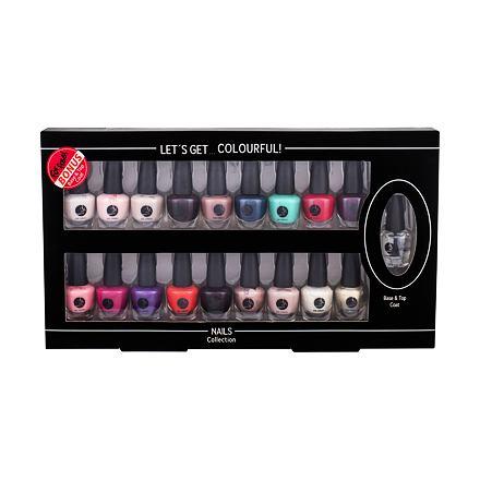 2K Let´s Get Colourful! sada lak na nehty 19 x 3,5 ml pro ženy