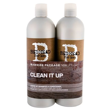 Tigi Bed Head Men Clean Up sada šampon 750 ml + kondicionér 750 ml pro muže