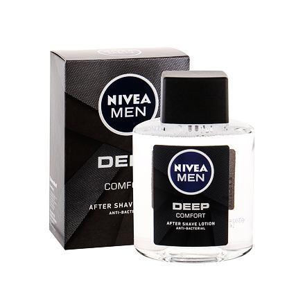 Nivea Men Deep Comfort voda po holení s antibakteriálními účinky 100 ml