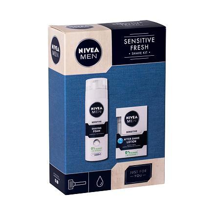Nivea Men Sensitive sada voda po holení 100 ml + pěna na holení 200 ml pro muže