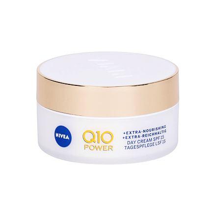 Nivea Q10 Power Anti-Wrinkle + Extra Nourishing vyživující krém proti vráskám SPF15 50 ml pro ženy
