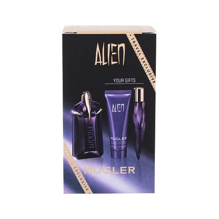 Thierry Mugler Alien sada parfémovaná voda 60 ml + parfémovaná voda 10 ml + tělové mléko 50 ml pro ženy