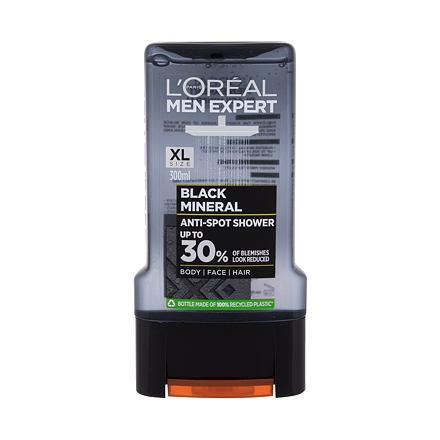 L´Oréal Paris Men Expert Black Mineral Anti-Spot sprchový gel 300 ml pro muže