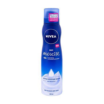 Nivea Body Mousse Almond Oil hydratační pěna pro velmi suchou a suchou pokožku 200 ml pro ženy