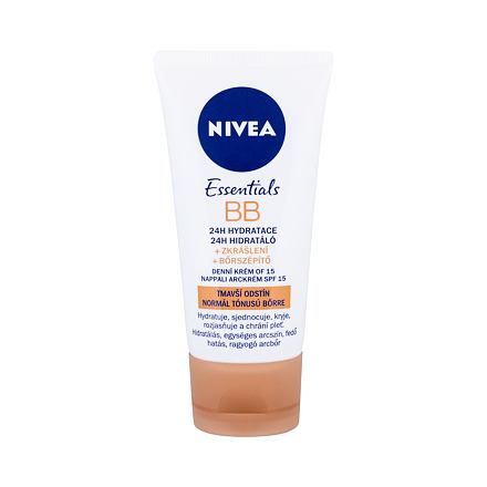 Nivea BB Cream 5in1 Beautifying Moisturizer, SPF10 hydratační bb krém 50 ml odstín Medium To Dark pro ženy