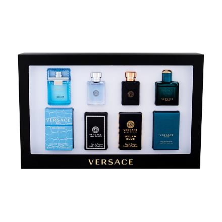 Versace Mini Set 1 sada edt Eros 5 ml + edt Dylan Blue 5 ml + edt Versce Pour Homme 5 ml + edt Man Eau Fraiche 5 ml pro muže