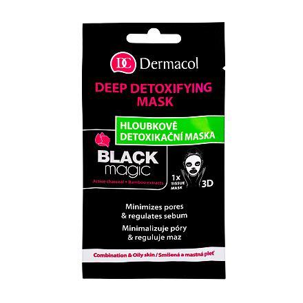 Dermacol Black Magic hloubkově detoxikační pleťová maska 1 ks pro ženy