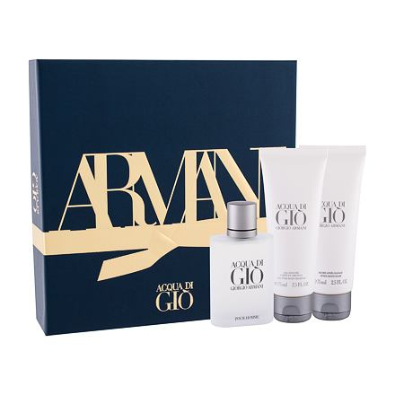 Giorgio Armani Acqua di Giò Pour Homme sada toaletní voda 50 ml + balzám po holení 75 ml + sprchový gel 75 ml pro muže