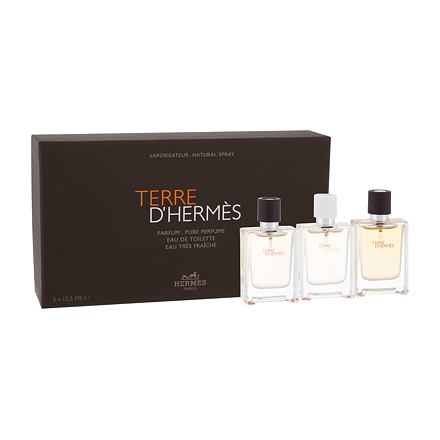 Hermes Terre d´Hermès sada parfém Terre D´Hermés 12,5 ml + toaletní voda Terre D´Hermés 12,5 ml + toaletní voda Terre D´Hermés Eau Trés Fraiche 12,5 ml pro muže