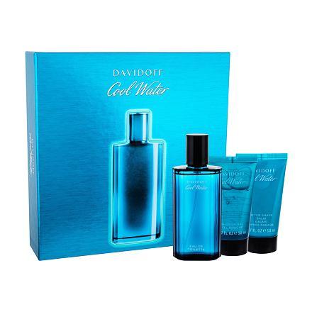 Davidoff Cool Water sada toaletní voda 75 ml + sprchový gel 50 ml + balzám po holení 50 ml pro muže