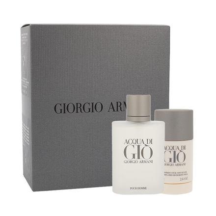 Giorgio Armani Acqua di Giò Pour Homme sada toaletní voda 100 ml + deostick 75 ml pro muže