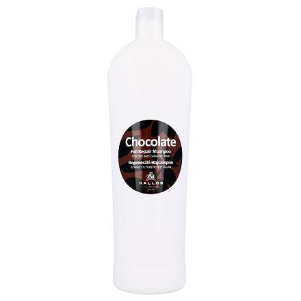 Kallos Cosmetics Chocolate regenerační šampon pro suché a poškozené vlasy 1000 ml pro ženy