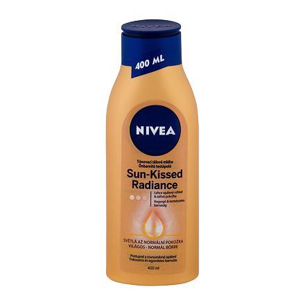 Nivea Sun-Kissed Radiance tónovací tělové mléko pro světlou až normální pokožku 400 ml pro ženy