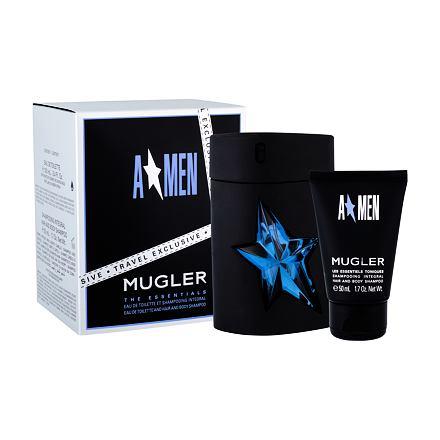 Thierry Mugler A*Men Rubber sada toaletní voda 100 ml rubber + sprchový gel 50 ml pro muže