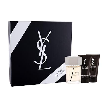 Yves Saint Laurent L´Homme sada toaletní voda 100 ml + balsám po holení 50 ml + sprchový gel 50 ml pro muže
