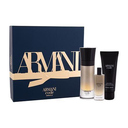 Giorgio Armani Code Absolu sada parfémovaná voda 60 ml + sprchový gel 75 ml + parfémovaná voda 15 ml pro muže