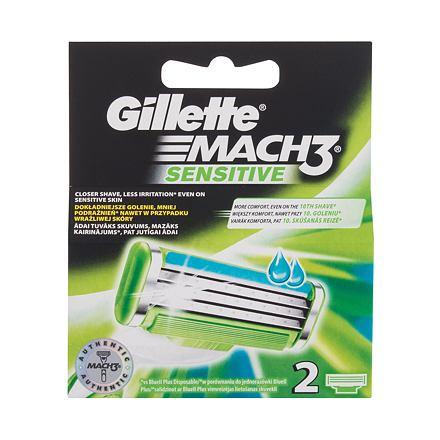 Gillette Mach3 Sensitive náhradní břit 2 ks pro muže