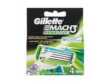 Náhradní břit Gillette Mach3 Sensitive 4 ks
