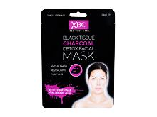 Pleťová maska Xpel Body Care Black Tissue Charcoal Detox Facial Mask 28 ml