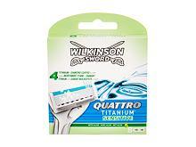 Náhradní břit Wilkinson Sword Quattro Titanium Sensitive 4 ks