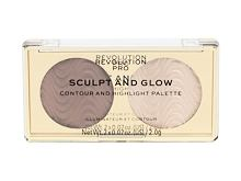 Dekorativní kazeta Makeup Revolution London Revolution PRO Sculpt And Glow 4 g Sands Of Time