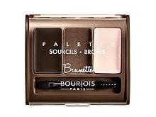 Set a paletka na obočí BOURJOIS Paris Brow Palette 4,5 g Brunette