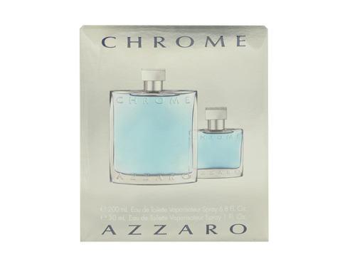 Azzaro Chrome EDT dárková sada pro muže - EDT 200 ml + EDT 30 ml
