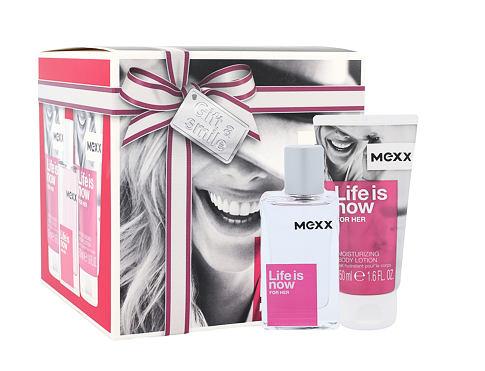 Mexx Life Is Now For Her EDT dárková sada pro ženy - EDT 30 ml + tělové mléko 2x50 ml