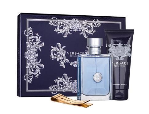 Versace Pour Homme EDT dárková sada pro muže - EDT 100 ml + sprchový gel 100 ml + spona na bankovky