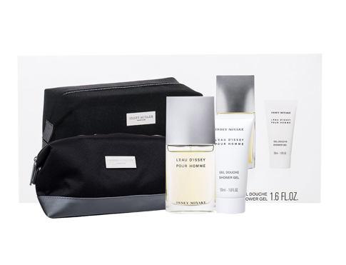 Issey Miyake L´Eau D´Issey Pour Homme Fraiche EDT dárková sada pro muže - EDT 50 ml + sprchový gel 50 ml + kosmetická taška