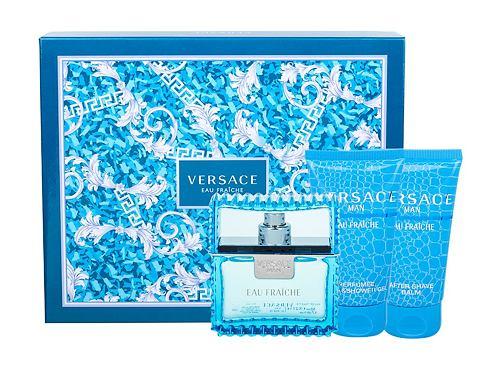 Versace Man Eau Fraiche EDT dárková sada pro muže - EDT 50 ml + sprchový gel 50 ml + balzám po