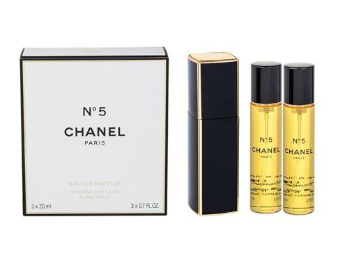 Chanel No.5 3x 20 ml 20 ml EDP Twist and Spray pro ženy