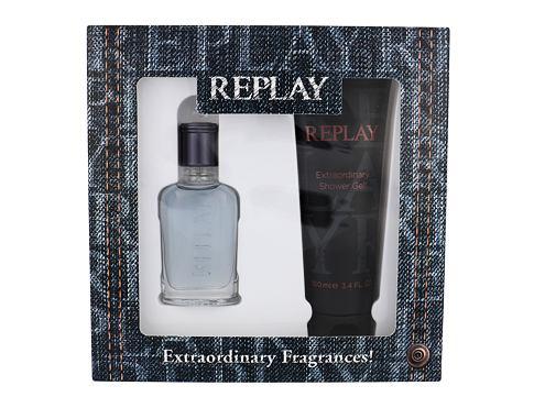 Replay Jeans Spirit! For Him EDT dárková sada pro muže - EDT 30 ml + sprchový gel 100 ml
