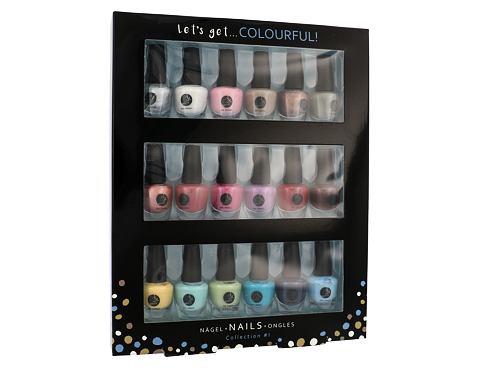 2K Let´s Get Colourful! lak na nehty dárková sada pro ženy - lak na nehty 18x 3,5 ml