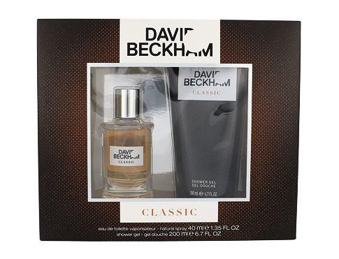David Beckham Classic EDT dárková sada Poškozená krabička pro muže - EDT 40 ml + sprchový gel 200 ml