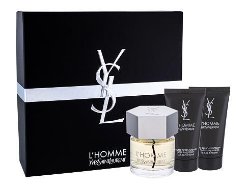 Yves Saint Laurent L´Homme EDT dárková sada pro muže - EDT 60 ml + balzám po holení 50 ml + sprchový gel 50 ml