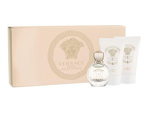 Versace Eros Pour Femme EDP dárková sada pro ženy - EDP 5 ml + sprchový gel 25 ml + tělové mléko 25 ml