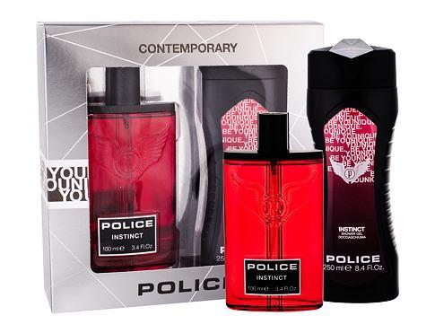 Police Instinct EDT dárková sada pro muže - EDT 100 ml + sprchový gel 250 ml